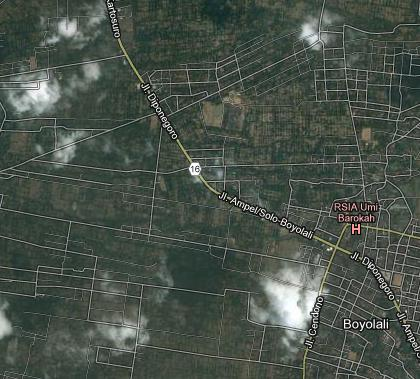 Tikungan sebelah barat terminal Boyolali