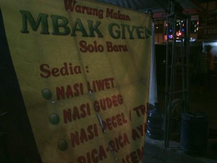 Nasi Liwet mbak Giyem